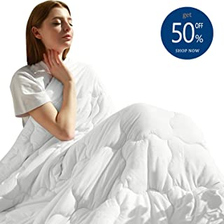 MAXIJIN Modern Weighted Blankets 20 lbs for 180-220lb Adult 100% Cotton Queen Size Heavy Blanket for Sleeping(60