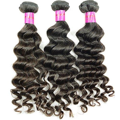 Noble Reine Cheveux vierge péruvienne Cheveux humains Bundles Courroie Curl brut Tissage de cheveux cheveux 10 A 3 pcs Courroie profonde non transformés Trame de cheveux 300 grammes