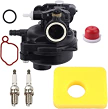 Meng Xiang 590556 Carburetor for Briggs and Stratton 550E 09P702 9P702 Series OVH Vertical Engine with Air Filter Spark Plug Primer Bulb
