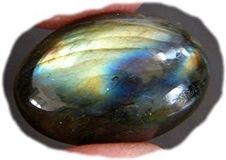 RASIO Cabujón de labradorita llamativo, forma cuadrada, hermoso cabujón de diseño, piedra preciosa labradorita natural, 57...