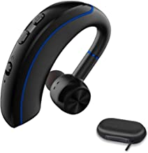 Bluetooth Phone Earpiece, Wireless Bluetooth Headset V4.1 with Stereo Noise Canceling Microphone for Cell Phone Laptop,Car,Skype,Call Center,Truck Driver