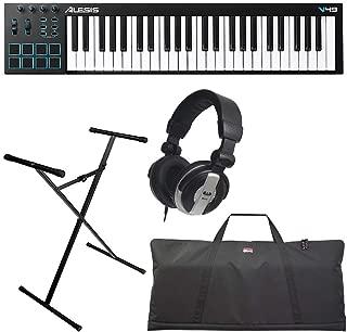 Alesis V49   49-Key USB MIDI Keyboard & Drum Pad Controller (8 Pads / 4 Knobs / 4 Buttons) + Keyboard Bag + Keyboard Stand + Headphones - Top Value Bundle!!