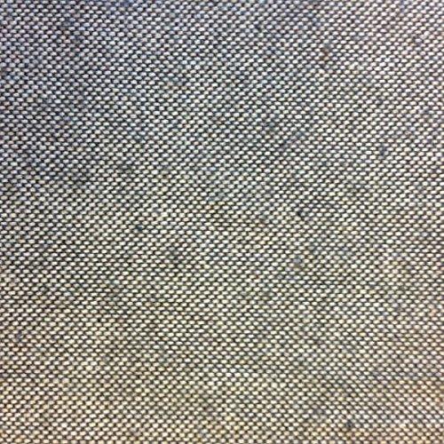 Kt KILOtela Tela de loneta Lisa - Half Panamá 100% algodón - Retal de 100 cm Largo x 280 cm Ancho   Gris Oscuro ― 1 Metro