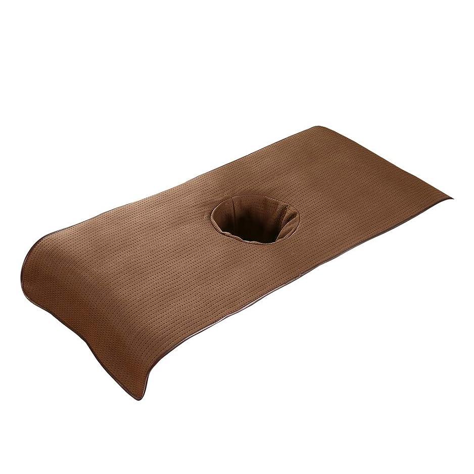 登山家許可修道院KESOTO スパ マッサージベッドカバー 有孔 美容ベッドカバー マッサージテーブルスカート 快適 通気性 - 褐色