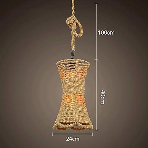 L&Y Rétro magasin de vêteHommests créatifs Coffee Shop Chandelier de corde de chanvre (Couleur   I)