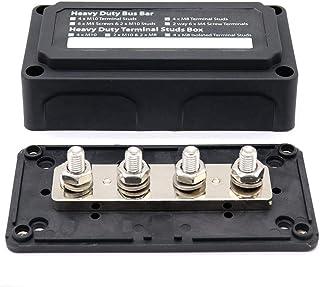 Summerwindy Dc 48V 300A 4 Anschluss Stecker Stromschienenverteilerblock Für Auto Boot (Schwarz)