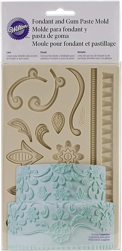 Wilton 409 2557 Fondant And Gum Paste Silicone Mold Lace