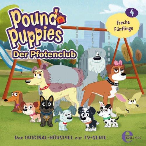 Freche Fünflinge     Pound Puppies 4              Autor:                                                                                                                                 Barbara van den Speulhof                               Sprecher:                                                                                                                                 Wolfgang Rositzka,                                                                                        Tom Deininger,                                                                                        Joseline Gassen                      Spieldauer: 55 Min.     Noch nicht bewertet     Gesamt 0,0