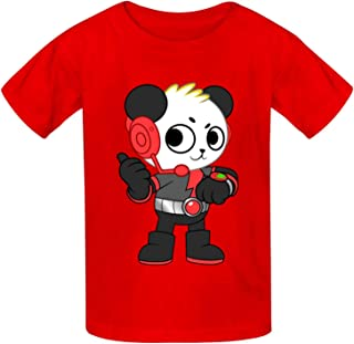 Red T-itan Kid's Graphic Tees Cotton Tops Short Sleeve Crewneck T-Shirt for Boys Girls