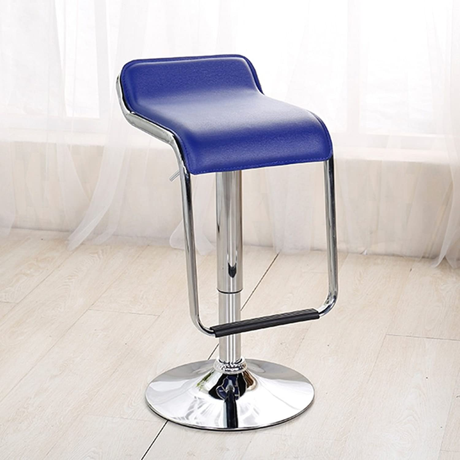 XUERUI Barstools Bar Stool Backrest Metal 60-80cm Strong Stability (color   Style 2)