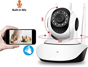 FZOON 1080P 2MP HD PTZ Wireless Home Security Camera Video Surveillance IP Camera Wi Fi Baby Monitor Audio P2P ONVIF,1080P with 64G SD