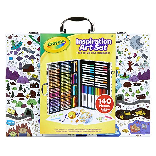 Crayola Inspiration Art Case, Art Set, Gifts for Kids, Age 4, 5, 6, 7 (Styles May Vary)
