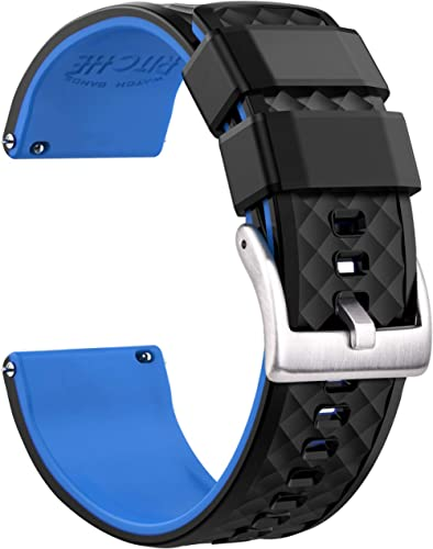 Ritche Silicone Watch Bands 18mm 19mm 20mm 21mm 22mm 23mm 24mm Quick Release Rubber Watch Bands for Men Women