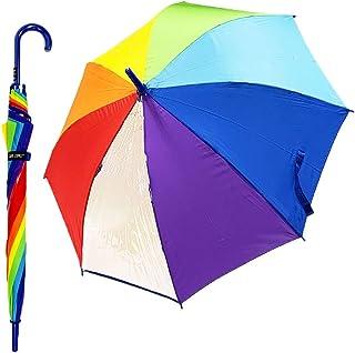 CAFE DIMLY カフェディムリー レインボーキッズ 傘 ブルー 55cm 子供傘 サッと開けるジャンプタイプ 折れにくいグラスファイバー骨 丈夫でな10mmの中棒を使用