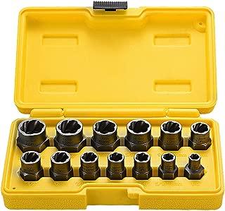 Juego de 13 piezas de extractor de tuercas dañados &