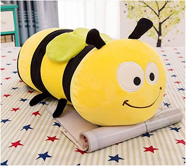 HYL World 17 7 Inches Cute Stuffed Bee Plush Bumblebee Animal Toy Pillow