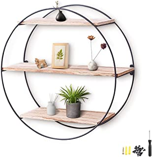 Agsivo Hanging Shelves Wall Mounted Wood Shelves