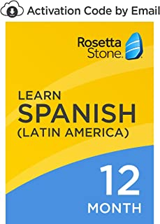 Rosetta Stone: Learn Spanish (Latin America) for 12 months on iOS, Android, PC, and Mac [Activation Code by Email]