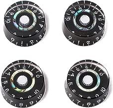 ULTNICE Speed Knob Electric Guitar Tone Volume Control Knob 4 Pack (Black)