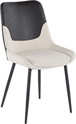 LumiSource Upholstered Two-Tone Chair - Set of 2