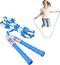 Lingge Springtouw voor kinderen, duurzame heldere kleur zonder te knopen, springtouw, 8,85 ft verstelbare lengte gesegment...