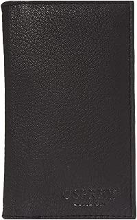Mens Osprey London Goat Skin Leather Luxury Card Case Wallet Black