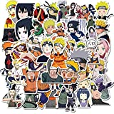 Naruto Stickers 50 Pack Decals for Laptop Computer Skateboard Water Bottles Car Teens Sticker