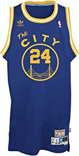 adidas Rick Barry Golden State Warriors NBA Throwback Swingman Jersey - Blue