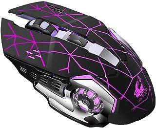 Clearance Sale!JPJ(TM)1Pcs Hot Fashion Rechargeable X8 Wireless Silent Led Backlit USB Optical Ergonomic Gaming Mouse (Black)