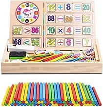 Fablcrew Jeu Num/érique B/âtons Bois Montessori Math/ématiques Intelligence Pr/éscolaire Jouet /éducatifs avec Bo/îte pour Enfants 3 Ans