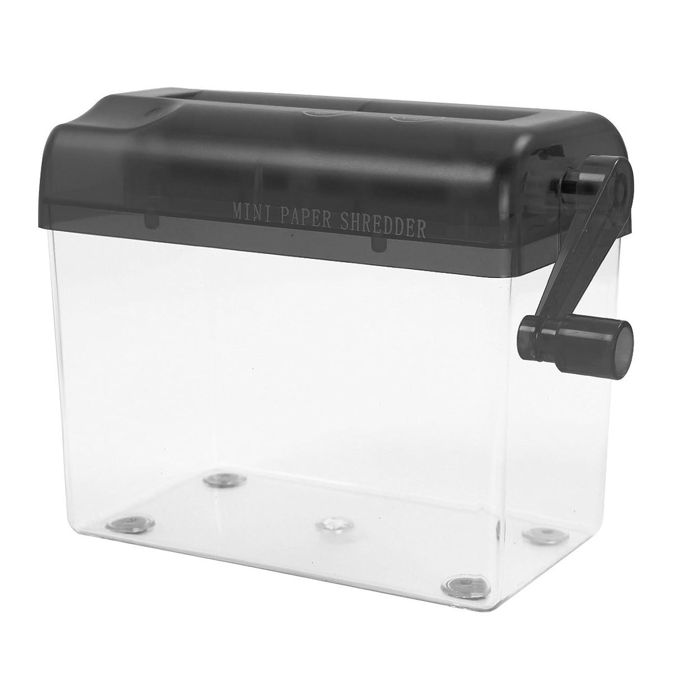 閉じ込める更新する成果Zigwin 個人情報保護 家庭用 手動 卓上 ハンドシュレッダー