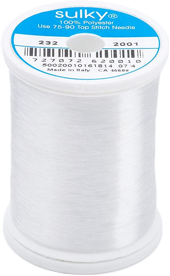.004 1500 yards Invisible Thread 1-Clear Wonder 212 or 2-Black Smoke