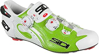 Sidi Wire Carbon Air Road Cycling Shoes - Green Fluo/White (39 EUR [US 6])