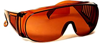 Large Fit Over Sunglasses Blue Blocking Amber UV Protection By CSC