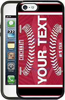 BRGiftShop Customize Your Own Baseball Team Cincinnati Rubber Phone Case for Apple iPhone 5 5s & iPhone SE