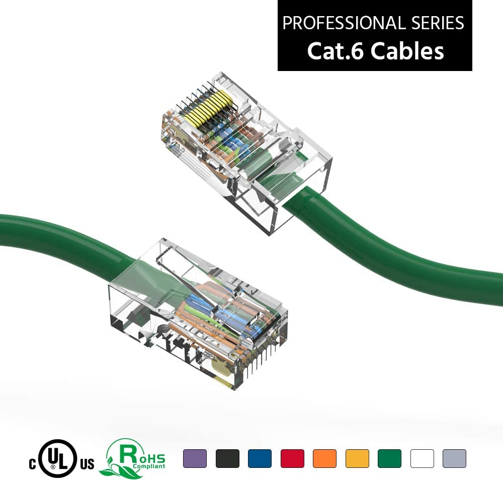 ACCL 15Ft Cat6 UTP Ethernet Award-winning store Network Green Cable Booted Kansas City Mall 5 Non Pa