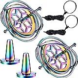 meekoo 2 Packung Metall Anti-Schwerkraft Gyroskop Bunte Spinnen Top Gyroskop Balance Spielzeug Pädagogisches Geschenk