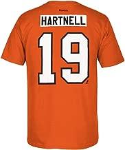 Philadelphia Flyers Scott Hartnell Orange Net Print T Shirt