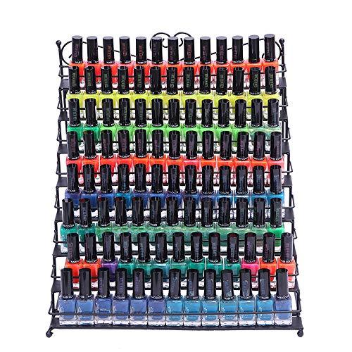 Metal Nail Polish Display Storage 8 Tier Organizer Wall Mountable Rack Holder Multi Level Black