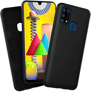 ROCK Samsung Galaxy M31 Cover Liquid Silicone Soft TPU Case Ultra Thin Shockproof Bumper Cover (BLACK)