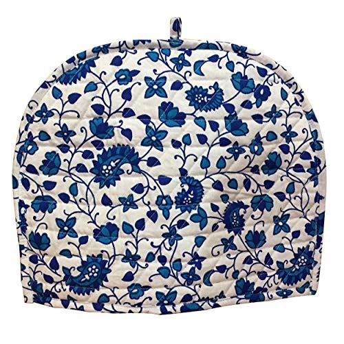 AUNERCART Turquoise Blue White Cotton Handmade Designs Tea Cozy Creative Tea Cosy Indian Mandala Tea Cozies Tea Pot Cover