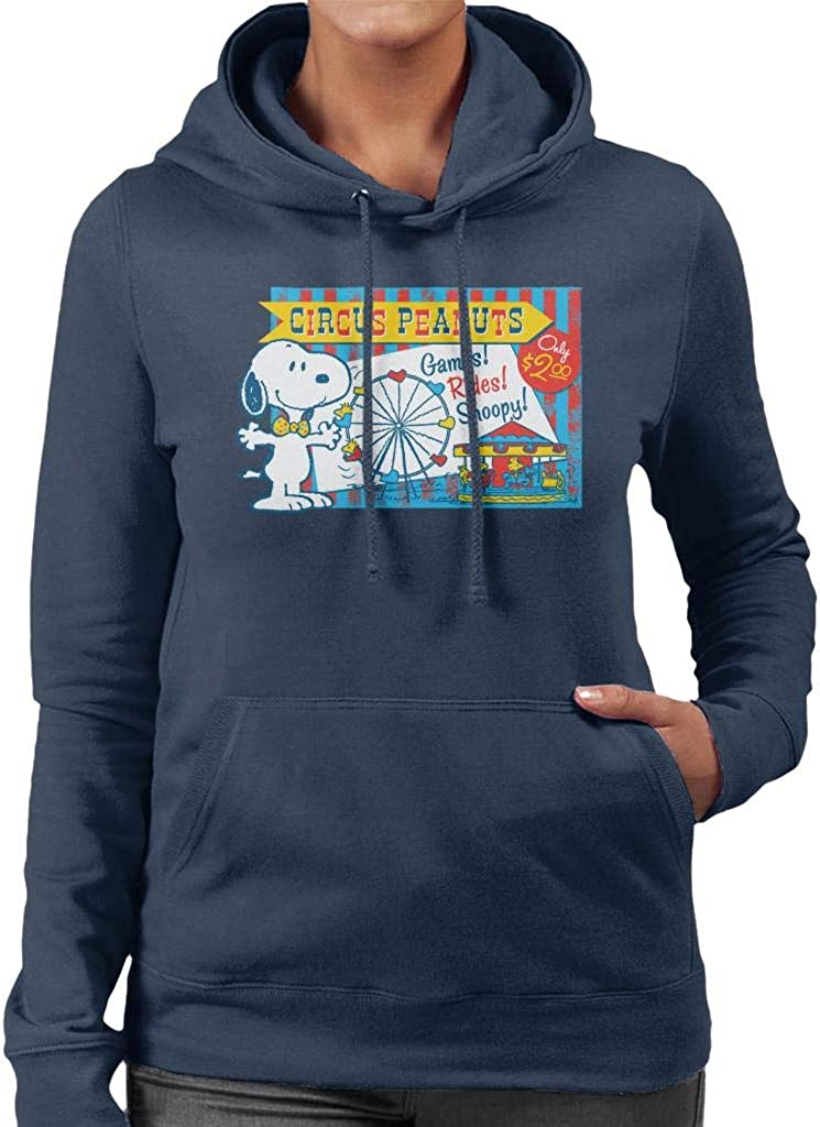 Choice Peanuts Snoopy Circus Max 57% OFF Games And Rides Women's Hooded Sweatshirt