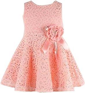 f6aaafbcf Dragon868 Vestidos para niñas, Nuevas Chicas Estilo Completo Encaje Floral  una Pieza Vestidos de Fiesta