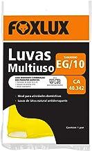 Luva Multiuso Foxlux – Látex – Antiderrapante – Tamanho EG – CA 40.342 – Utilização Doméstica e Manutenção de Jardins – Am...