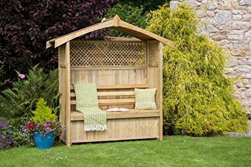 Zest4Leisure Hampshire Arbour with Storage Box - FSC Certified Pressure Treated Wood