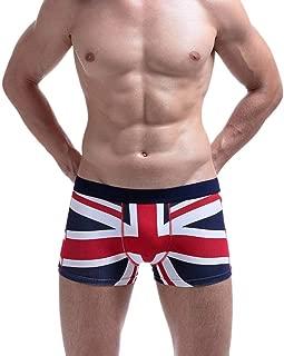 Mens Underwear Sexy UK Flag Cotton Soft Breathable Pouch Boxer Underpants