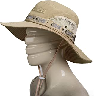 SPTLIMES Fashion Summer Outdoor Sun Protection Fishing Cap.Wide Brim Summer Fishing Hat for Hiking, Cycling,Camping,Boating & Outdoor Adventures. Breathable Polyester with Mesh.for Men & Women