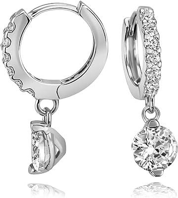 Goldmaid Boucles d'Oreilles Femme Argent 925/1000 14 Oxyde de Zirconium Blanc