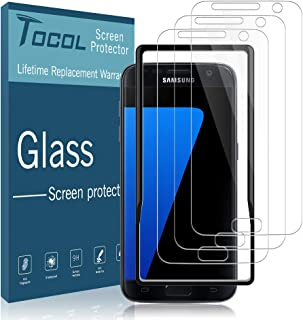 TOCOL [3Pack] for Samsung Galaxy S7 Screen Protector Tempered Glass HD Clarity Touch Accurate [9H Hardness] + Easy Installation Tray with Lifetime Replacement Warranty
