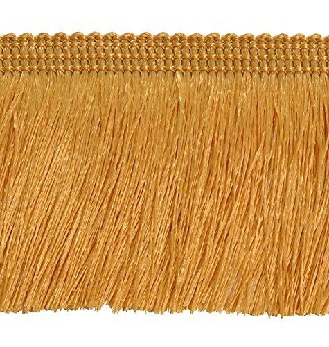 Mosel Avenue Art & Gobelin Studio 25,0 m Fransen 60 mm breit Farbe Honiggelb Gold Schnittfransen Posamentenborte Bordüre Decoborte Borte Spitzenborte Shabby Chic Posamentenborte Brokat Spitze